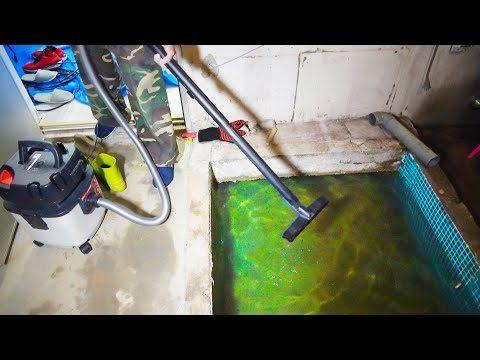 掃除機で謎ため池の水抜いてみた【事務所リフォーム #6】