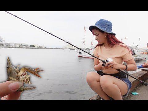 実験。生きたザリガニを海にぶん投げる。釣れる?釣れない?
